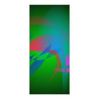 Green Earth Abstract Art Custom Rack Card