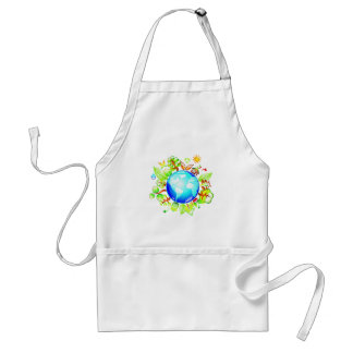 Green Earth Eco Friendly for Earth Day Apron