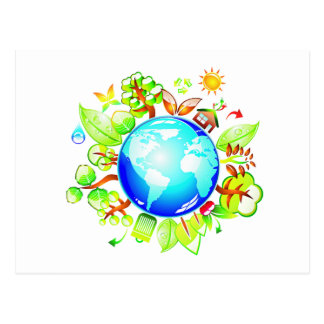 Green Earth Eco Friendly for Earth Day Postcard