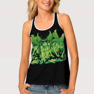 Green Earth Fairy Illustration by Al Rio Tank Top