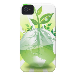 Green Earth iPhone 4 Case-Mate Cases