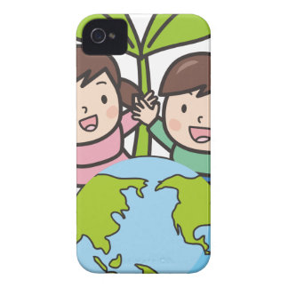 Green Earth iPhone 4 Cover