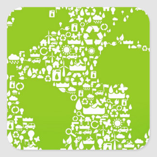 Green Earth / Recycle Square Sticker