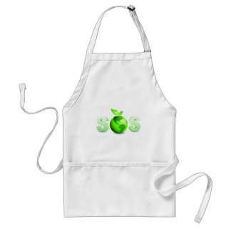 Green Earth SOS Earth Day Message Standard Apron