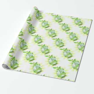 Green Earth Wrapping Paper