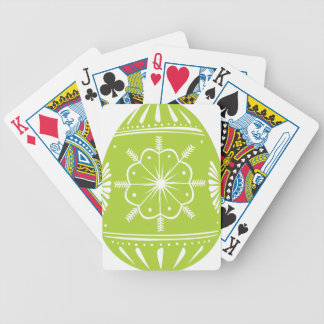 Green Easter Egg Bicycle Playing Cards