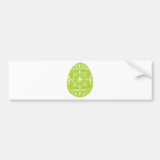 Green Easter Egg Bumper Sticker