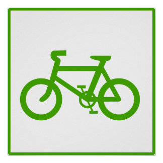 Green Eco Bicycle Poster