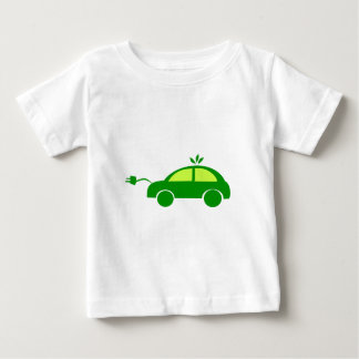 Green Eco Electric Car - Ecology, Enviroment Baby T-Shirt