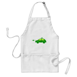 Green Eco Electric Car - Ecology, Enviroment Standard Apron