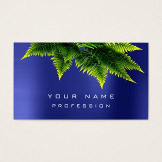 Green Economy Fern Organic Sapphire Cobalt Blue Business Card