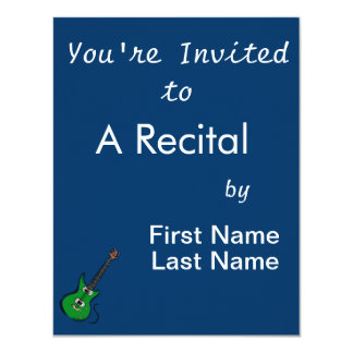 green electric guitar music graphic.png 4.25x5.5 paper invitation card