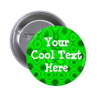 """Green Electricity II"" Template 6 Cm Round Badge"
