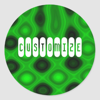 Green Electricity III - Template Classic Round Sticker