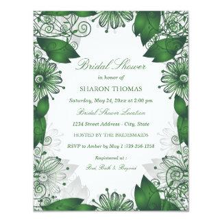 Green Elegant Floral | Bridal Shower Invitation