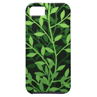 Green Elegant Leafy Branches Design iPhone 5 Case