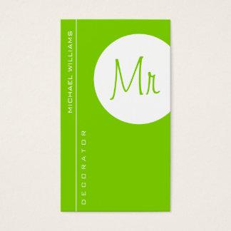 GREEN ELEGANT MODERN MINIMALIST SIMPLE CIRCLE BUSINESS CARD