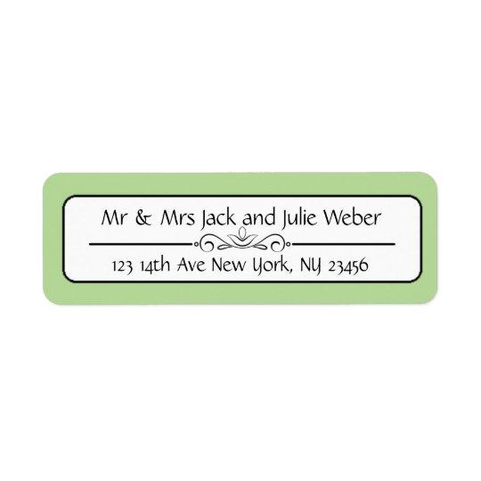 Green Elegant Return Address Stickers