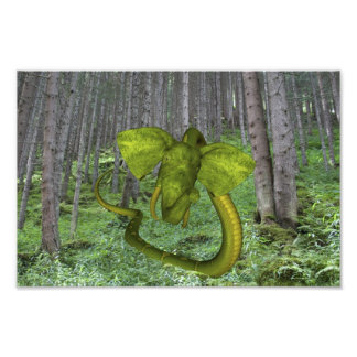 Green Elephant Snake Photo Print