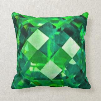 Green Emerald Birthstone Gem Cushion