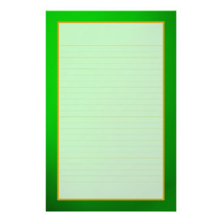 Green Emerald Fine Lined Stationery
