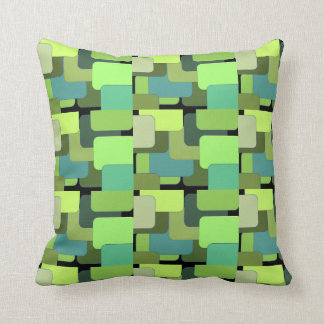 Green Emerald Lime Jade Modern Abstract Cushion