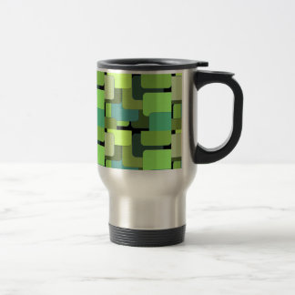 Green Emerald Lime Jade Modern Abstract Travel Mug