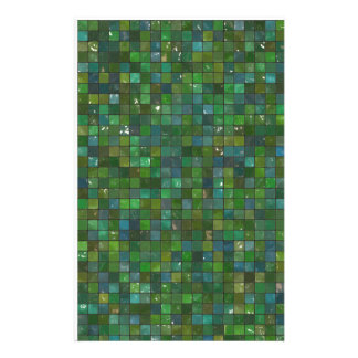 Green Emerald Shiny Glass Tiles Texture Background Personalised Stationery