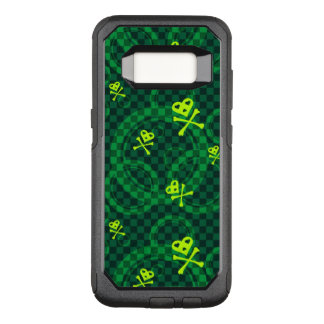 Green Emo Pattern With Circles OtterBox Commuter Samsung Galaxy S8 Case