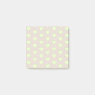 Green Emoji Hearts Post-it Notes