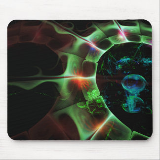 Green Energy Abstract Mouse Pad