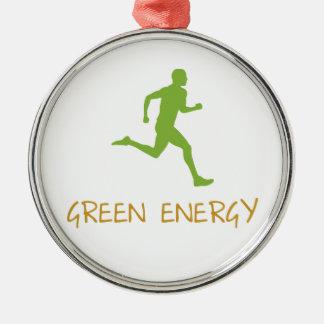 Green Energy Metal Ornament