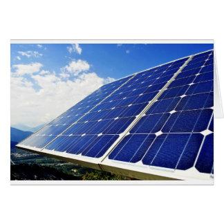 Green Energy Solar Power Greeting Card