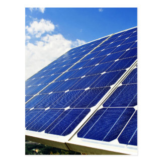 Green Energy Solar Power Postcard