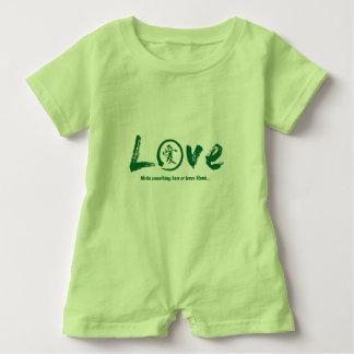 Green enso zen circle, Japanese symbol for love Baby Bodysuit