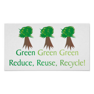 Green Enviro-friendly Poster