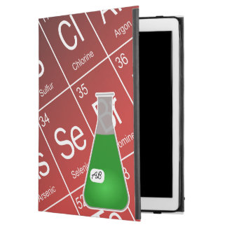 "Green Erlenmeyer Flask (with Initials) Chemistry iPad Pro 12.9"" Case"