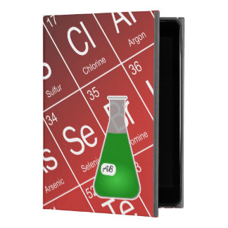 "Green Erlenmeyer Flask (with Initials) Chemistry iPad Pro 9.7"" Case"