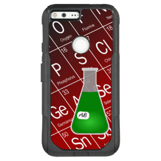 Green Erlenmeyer Flask (with Initials) Chemistry OtterBox Commuter Google Pixel XL Case