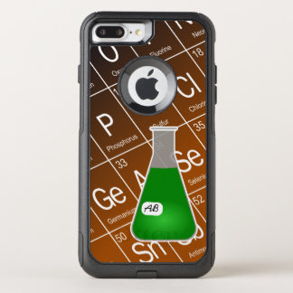 Green Erlenmeyer Flask (with Initials) Chemistry OtterBox Commuter iPhone 8 Plus/7 Plus Case