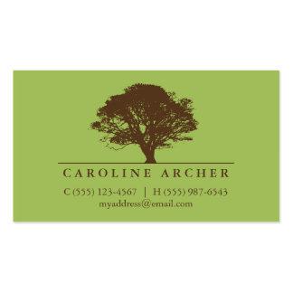 Green eternal oak tree elegant style nature pack of standard business cards
