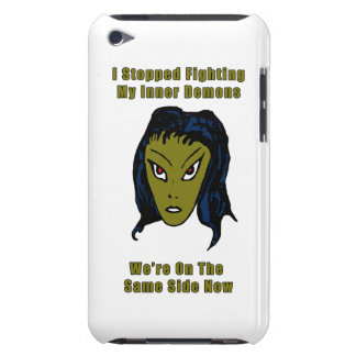 Green Evil Alien Woman Same Side Now Barely There iPod Case