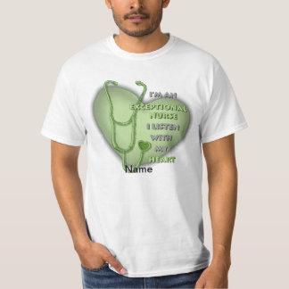 Green Exceptional Nurse value t-shirt