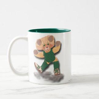 Green Exercise Teddy Bear Mug