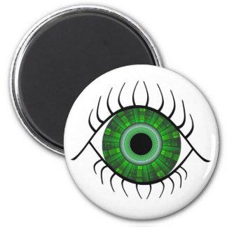 Green Eye 6 Cm Round Magnet