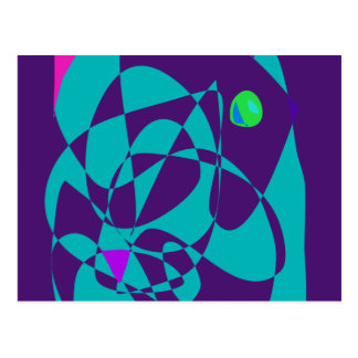 Green Eye Dark Purple Postcard