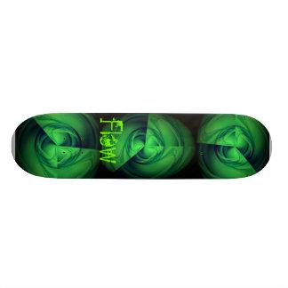 Green Eye Flow Skateboard Deck