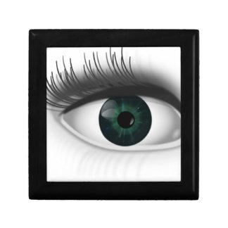 Green eye. gift box