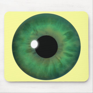 Green Eye Iris Custom Cool Mousepad Mousemats