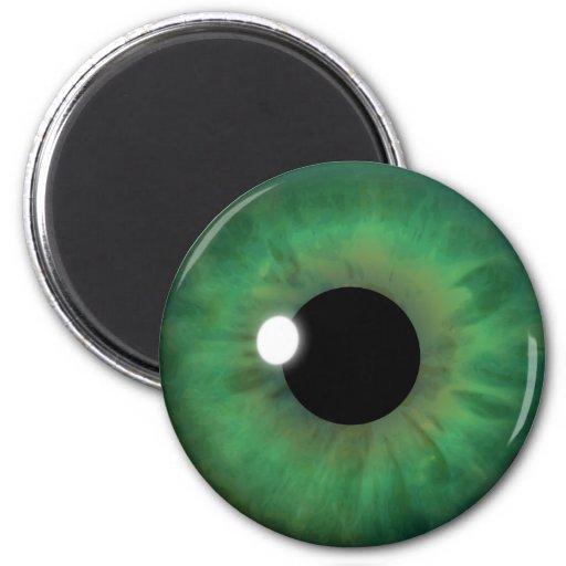 Green Eye Iris Eyeball Cool Custom Round Magnets Refrigerator Magnets